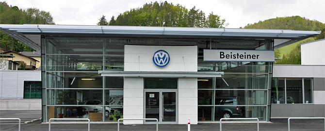 Homepage des VW- und Audi Betriebes Autohaus Beisteiner mit Filialen in Kirchschlag und Wiesmath.